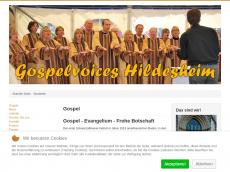 Screenshot der Domain gospelvoices.de