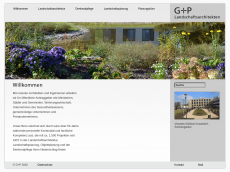 Screenshot der Domain gp-landschaft.de