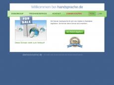 Screenshot der Domain handsprache.de