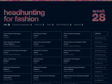 Screenshot der Domain headhuntingforfashion.com