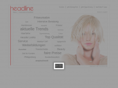 Screenshot der Domain headline-friseure.de