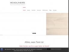 Screenshot der Domain headliners-pr.de