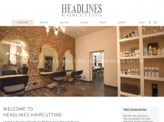 Screenshot der Domain headlines-haircutting.de