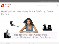 Screenshot der Domain headset-direct.com