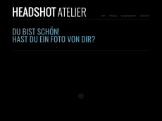 Screenshot der Domain headshot-atelier.de