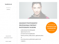 Screenshot der Domain headshots.de