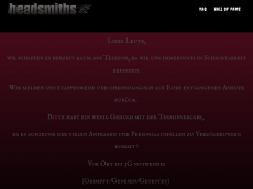 Screenshot der Domain headsmiths.de