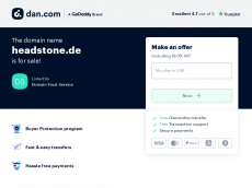 Screenshot der Domain headstone.de