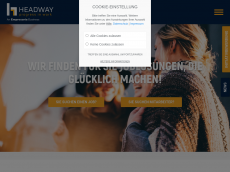 Screenshot der Domain headway-personal.com