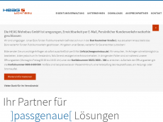 Screenshot der Domain heagwohnbau.de
