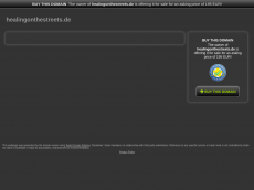 Screenshot der Domain healingonthestreets.de