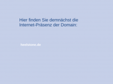 Screenshot der Domain healstone.de