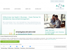 Screenshot der Domain health-4-business.de