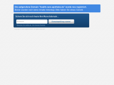 Screenshot der Domain health-care-apotheke.de