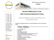 Screenshot der Domain hno-poing.de