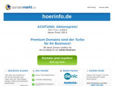 Screenshot der Domain hoerinfo.de