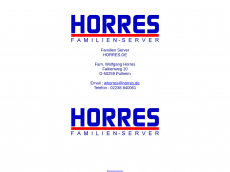 Screenshot der Domain horres.de