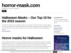 Screenshot der Domain horror-mask.com