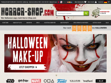 Screenshot der Domain horror-shop.com