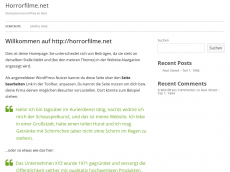 Screenshot der Domain horrorfilme.net