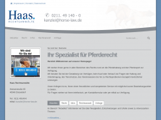 Screenshot der Domain horse-law.de
