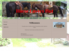 Screenshot der Domain horse-lovers-hut.de