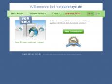 Screenshot der Domain horseandstyle.de