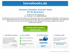 Screenshot der Domain horsebooks.de