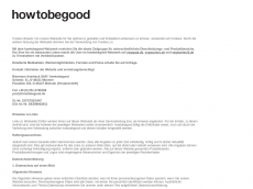 Screenshot der Domain howtobegood.de