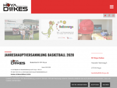 Screenshot der Domain hoya-basketball.de