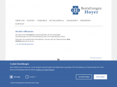 Screenshot der Domain hoyer-bestattungen.de