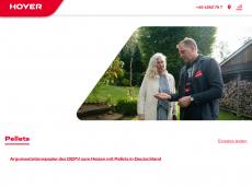 Screenshot der Domain hoyer-pellets.de