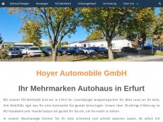 Screenshot der Domain hoyerautomobile.de
