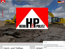 Screenshot von hp-bau.de
