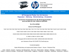 Screenshot der Domain hp-designjet-service.de
