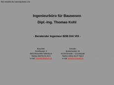 Screenshot der Domain ibkohl.de