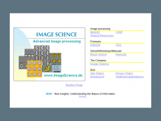Screenshot der Domain imagescience.de