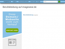Screenshot der Domain imagewear.de