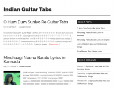 Screenshot der Domain indianguitartabs.com