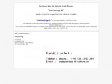 Screenshot der Domain intechnology.de