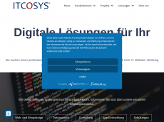 Screenshot der Domain itcosys.de