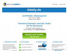 Screenshot der Domain itdaily.de