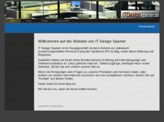 Screenshot der Domain itdesign-spanier.de