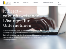 Screenshot der Domain itdirect.de