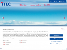 Screenshot der Domain itec-services.de