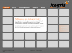 Screenshot der Domain itegris.de
