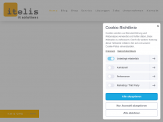 Screenshot der Domain itelis.de