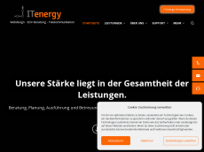 Screenshot der Domain itenergy-center.de