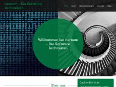 Screenshot der Domain iternum.com