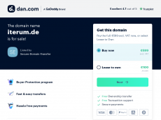 Screenshot der Domain iterum.de